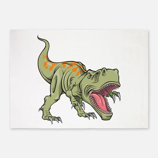 Screaming Dinosaur 5'x7'Area Rug