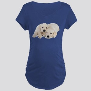 White Labradors Maternity Dark T-Shirt