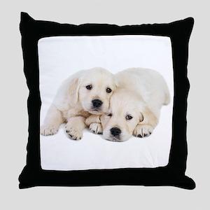 White Labradors Throw Pillow