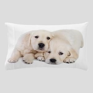 White Labradors Pillow Case