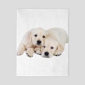 White Labradors Twin Duvet