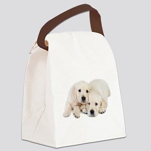 White Labradors Canvas Lunch Bag