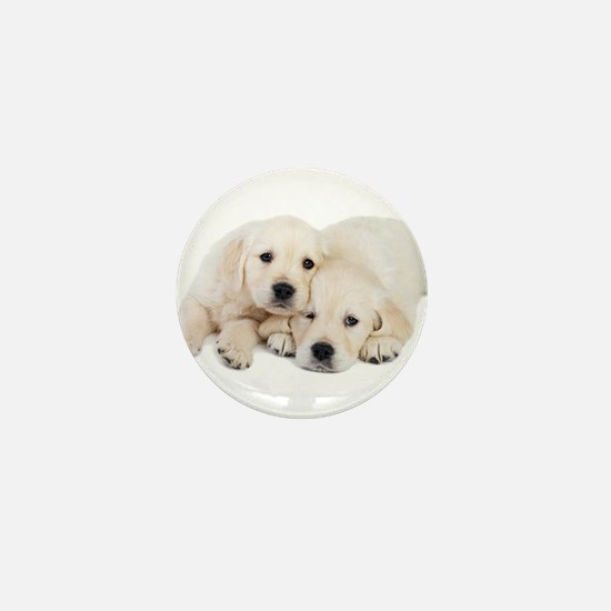 White Labradors Mini Button