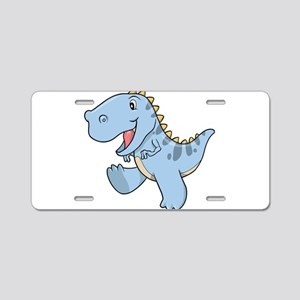 Playful Baby Dino Aluminum License Plate