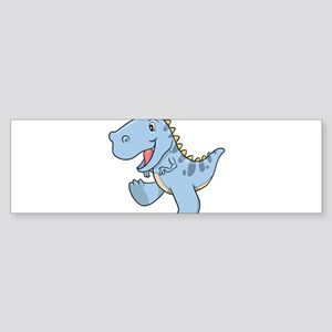 Playful Baby Dino Bumper Sticker