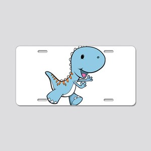 Running Baby Dino Aluminum License Plate