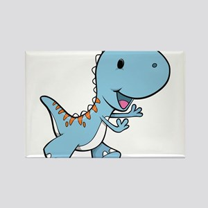 Running Baby Dino Rectangle Magnet