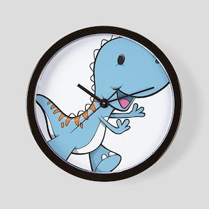 Running Baby Dino Wall Clock