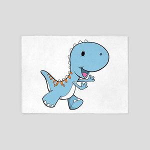 Running Baby Dino 5'x7'Area Rug