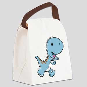 Running Baby Dino Canvas Lunch Bag