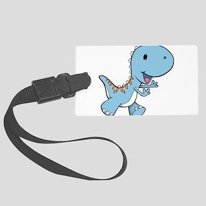 Running Baby Dino Luggage Tag