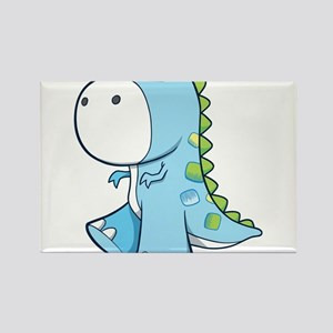 Baby Shower Dino Rectangle Magnet