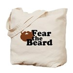 Fear the Beard - Brown Tote Bag