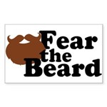 Fear the Beard - Brown Sticker