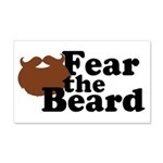 Fear the Beard - Brown Wall Decal