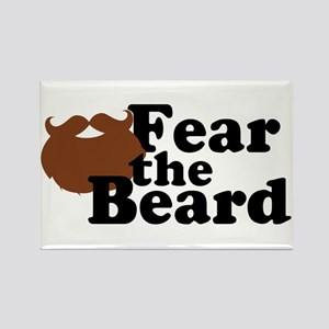 Fear the Beard - Brown Rectangle Magnet