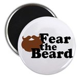 Fear the Beard - Brown Magnet