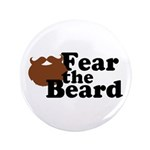 "Fear the Beard - Brown 3.5"" Button (100 pack)"