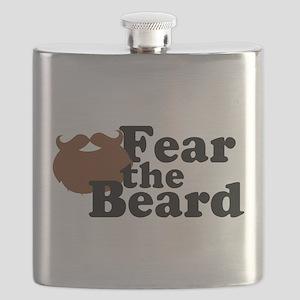Fear the Beard - Brown Flask