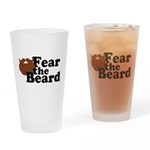 Fear the Beard - Brown Drinking Glass