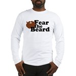 Fear the Beard - Brown Long Sleeve T-Shirt