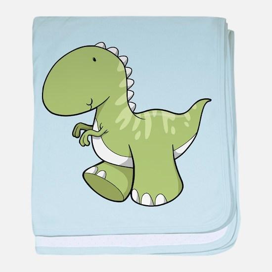 Green Baby Dinosaur baby blanket