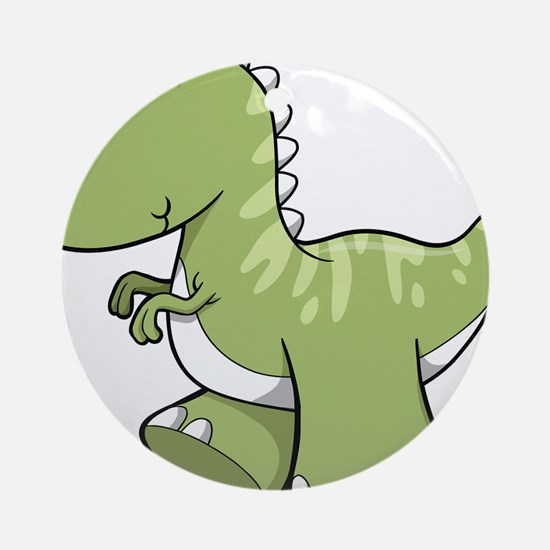 Green Baby Dinosaur Ornament (Round)