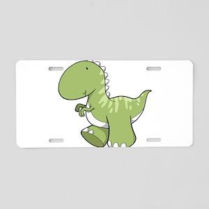 Green Baby Dinosaur Aluminum License Plate