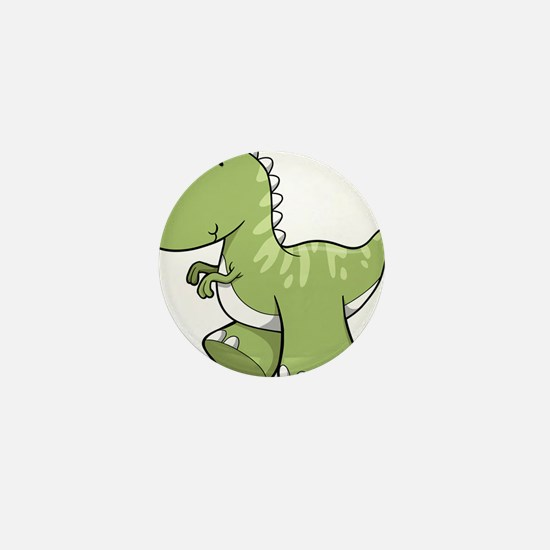 Green Baby Dinosaur Mini Button