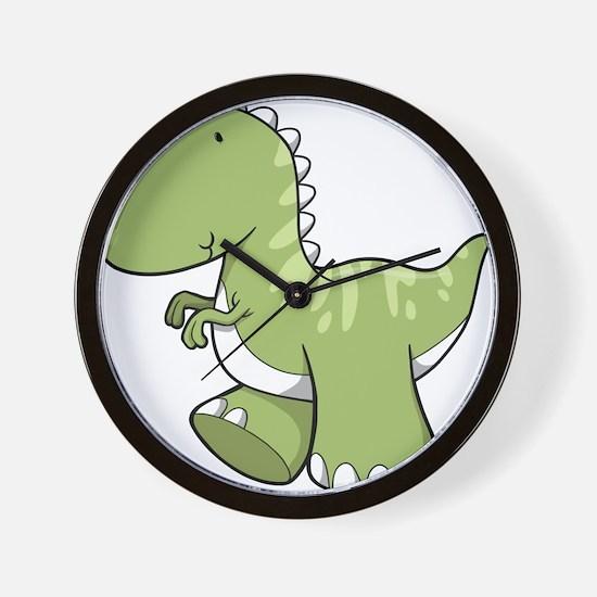 Green Baby Dinosaur Wall Clock