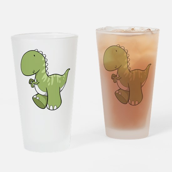 Green Baby Dinosaur Drinking Glass