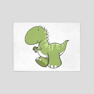 Green Baby Dinosaur 5'x7'Area Rug