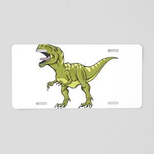 Green Dinosaur Aluminum License Plate