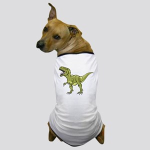 Green Dinosaur Dog T-Shirt
