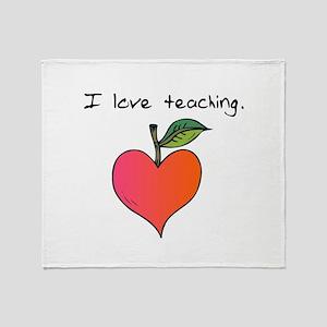 I love teaching. Throw Blanket