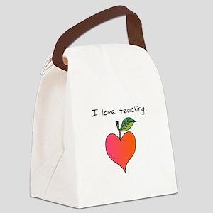 I love teaching. Canvas Lunch Bag