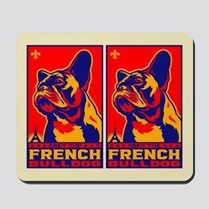 Obey the French Bulldog! Mousepad