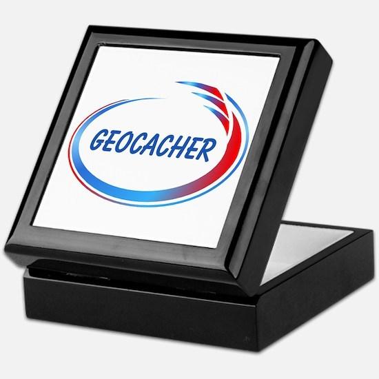 Blue Geocacher Pizzaz Keepsake Box