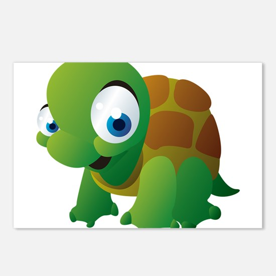 Cartoon Turtle Postcards (Package of 8)