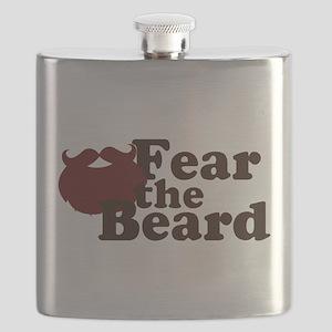 Fear the Beard - Red Flask