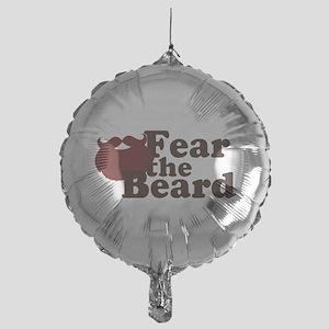 Fear the Beard - Red Mylar Balloon