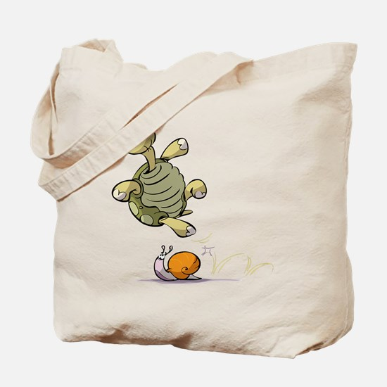 Jumping Turtle Tote Bag