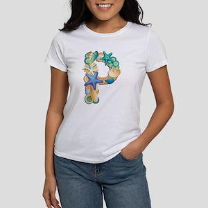 Beach Theme Initial P T-Shirt