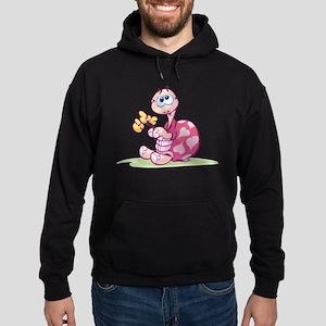 Pink Cartoon Turtle Hoodie