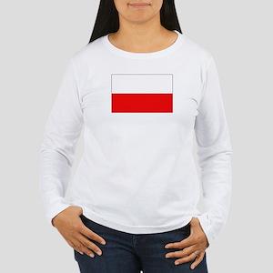Polish Flag Women's Long Sleeve T-Shirt