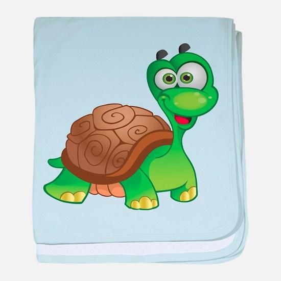 Funny Cartoon Turtle baby blanket