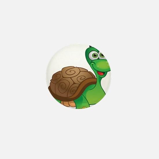 Funny Cartoon Turtle Mini Button