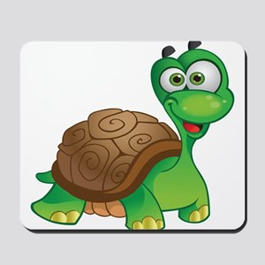 Funny Cartoon Turtle Mousepad