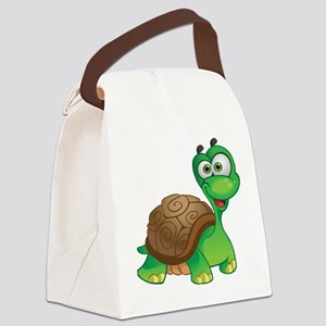 Funny Cartoon Turtle Canvas Lunch Bag