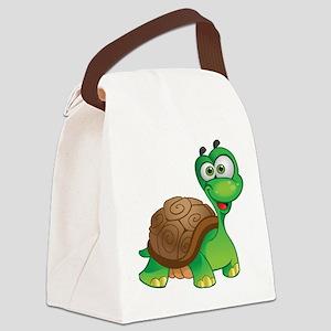 Funny Cartoon Turtle Canvas Lunch Bag
